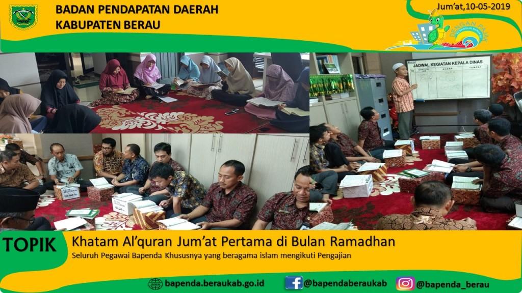 Alhamdulillah Bapenda Khatam Al'quran di Jum'at pertama di bulan Suci Ramadhan.